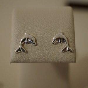 Jewelry - .925 Sterling Silver Dolphin Earrings